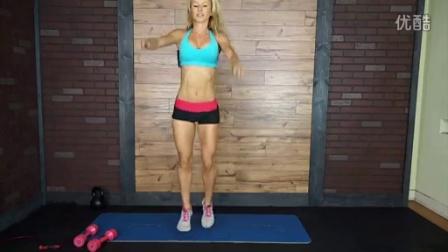 美女教你怎样快速健身热身