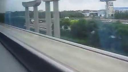 老外坐上海磁悬浮列车速度430公里