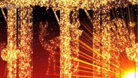 金色粒子炫目背景