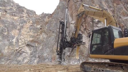 恒日重工液压凿岩钻机武鸣兴鹏石场工作视频
