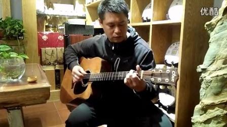 押尾指弹曲练习  大鹏吉他《黄昏》_高清