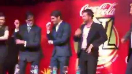 [爆笑]2014费德勒在印度访谈后学宝莱坞印度舞