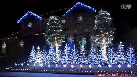 [超酷炫]家庭自制圣诞灯秀-Let It Go《冰雪奇緣Frozen》