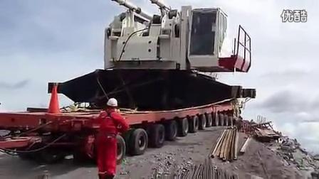超大拖车事故现场实拍_标清