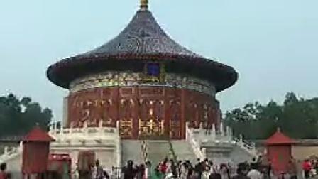 B016北京天坛景点旅游风光游客古建筑