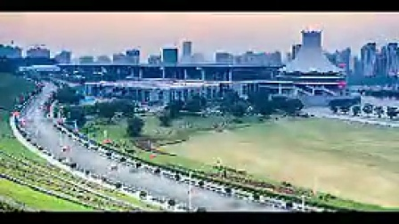 B028广西南宁城市延时摄影地标风光片
