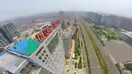 B048湖南岳阳城市航拍地标建筑风光