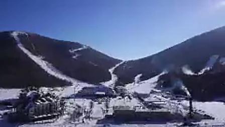 B044航拍山青水秀住宅小区自然风光