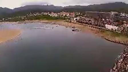 K006航拍台北音乐节海边沙滩人群狂欢