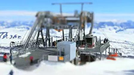N043延时雪山高山滑雪微速大景