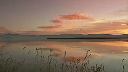 A023夕阳下的自然风光湖面阳光