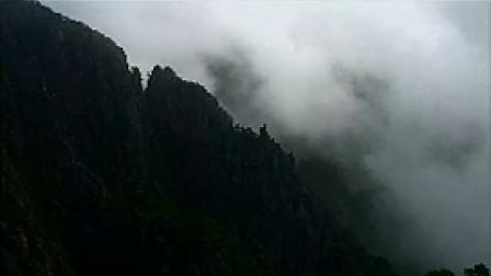 A029中国风极景山峰云雾萦绕