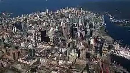 P007航拍鸟瞰城市高楼大厦