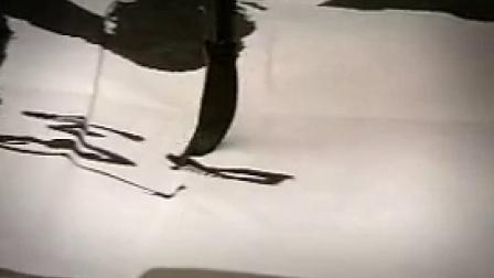 R002老人书写毛笔字文化艺术