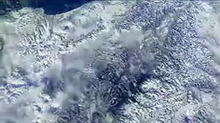 X002从宇宙太空中拍摄地球震憾