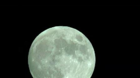 X011月亮升起大月亮特写唯美月亮镜头