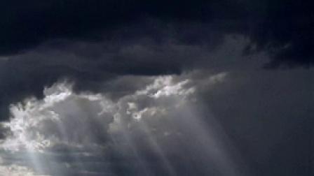 X009天空动态云阳光透过云层