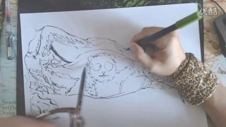 教你画最出最丑的熊猫和萝卜腿