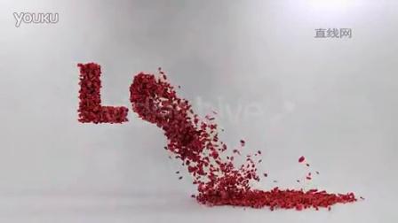 爱心粒子树叶展示AE模板
