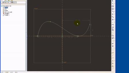 ProE  曲面端点处倒圆角