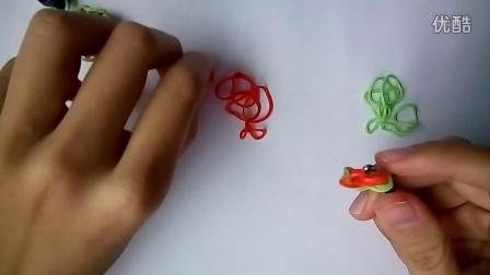 原创彩虹织机小清新耳链教程