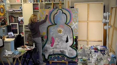 Paola Gonzalez Live Painting Buddha