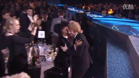Ed Sheeran Wins British Male Solo Artist _ BRIT Awards 2015