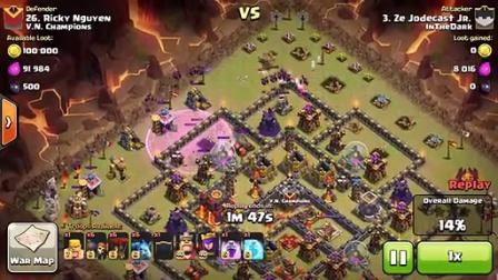 Clash of Clans - Clan War E025 -InTheDark vs V.N. Champions VOL 3 Part 2