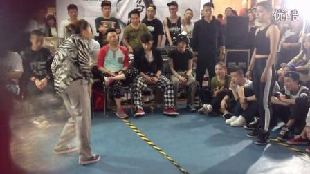 2014 洛阳 嘻哈帮 鸵鸟趴2 freestyle 高英 waacking VS 林子