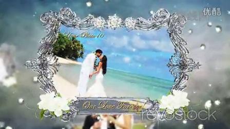 水晶镶边婚礼相册展示