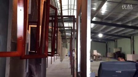 超雨机电高端家具自动喷漆设备  水性静电涂装机厂家现场视频案例13509005585陈小姐