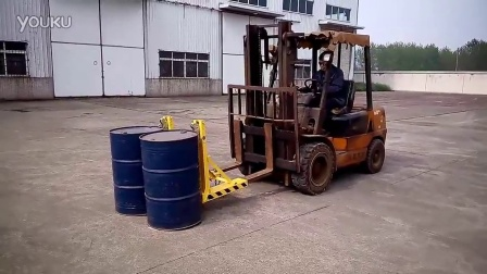 LD-2S双桶单头叉车桶夹