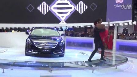 2015上海车展通用汽车 凯迪拉克 展台 外国美女帅哥 共舞