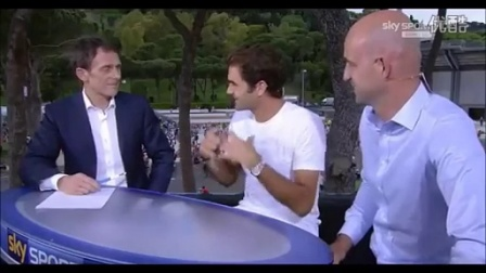 2015罗马 费德勒赢8强赛后访问谈到他的网球以及女儿们