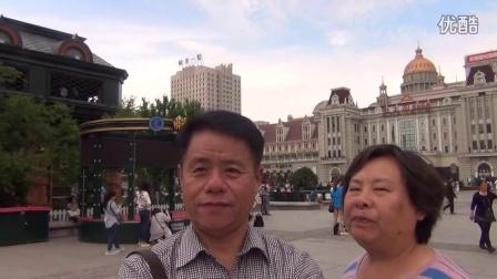 哈尔滨索菲亚广场,桓宇装饰老宋的自拍。