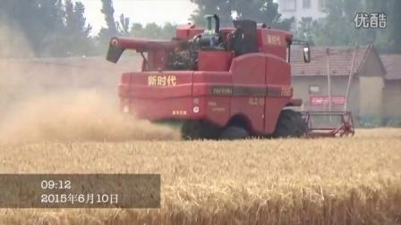 新时代麦收作业
