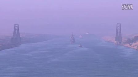 美国航母通过苏伊士运河,霸气!!!