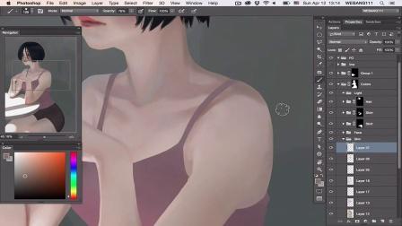 美少女绘画过程 Summer [Digital Painting]