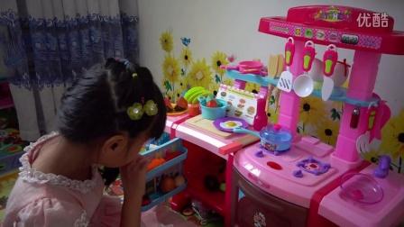 亲子游戏过家家玩具美味晚餐水果切切看玩具中动员2