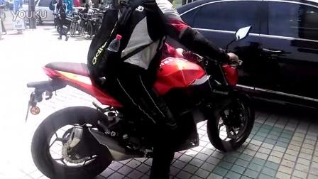 【拍客】实拍川崎摩托  Z250起步