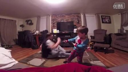 爸爸教儿子跳街舞 街舞视频