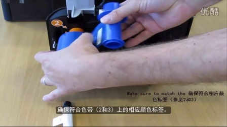 HIDGlobal_如何在FARGO DTC4500e证卡打印机中安装色带 _Chinese