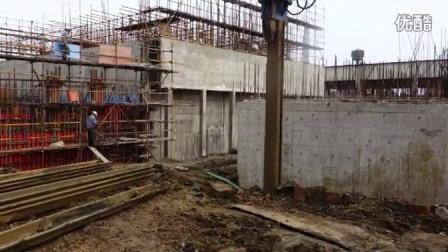 挖掘机振动锤广州工地打桩现场18998369010