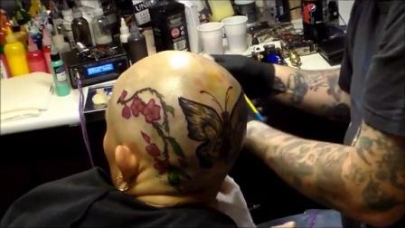 My new head tattoo thanks to alopecia areata!!