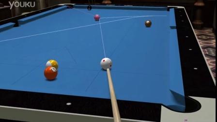 Virtual Pool 4- Corey Deuel's draw back with side