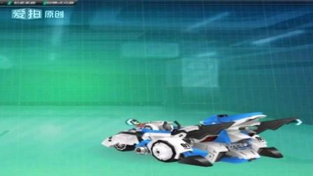 QQ飞车永久T2机甲解说小婷:双杀T2铁甲巨龙光明使者帅气展示_