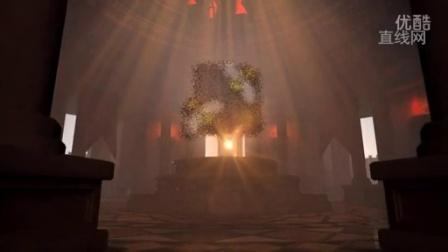 寺庙内粒子聚合标志LOGO