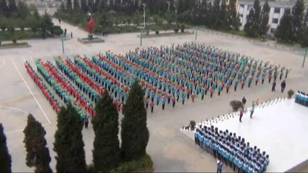 威宁县小海第二中学大课间活动