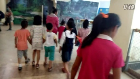孩子们在参观龙之梦楼上的动物园
