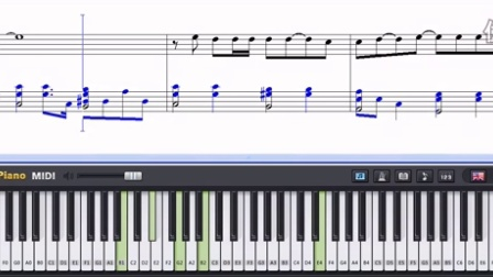 YUI piano Synthesia to Mother Sheet Music Tutorial